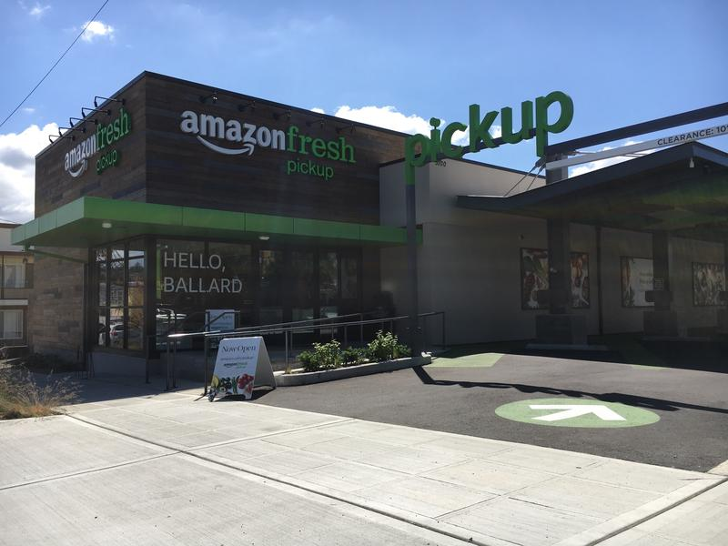 The AmazonFresh Pickup site in Ballard.