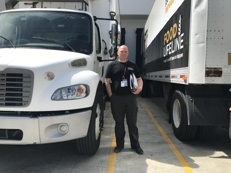 Ronnie Schmidt once volunteered for Food Lifeline. Then he saw a posting for a job driving a truck for the organization. 'You see a lot of seniors that need this help. So it's nice doing it.'