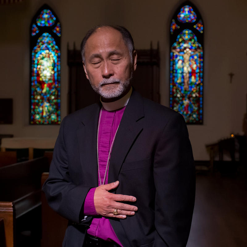 Bishop Scott Hayashi: 'Three men entered. One jumped behind the counter where I was standing, put a gun to my side and pulled the trigger. Pffft! It was that fast.'