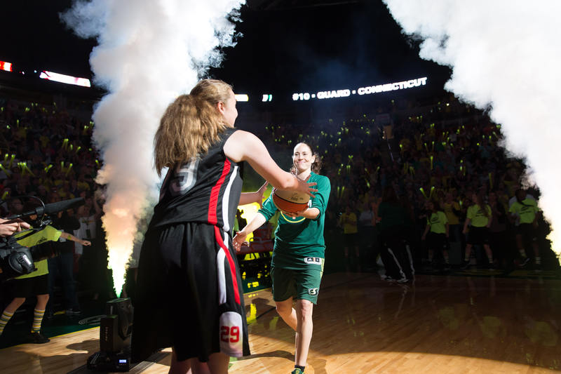 Key Arena is home court for Sue Bird, a 9 time WNBA All-Star