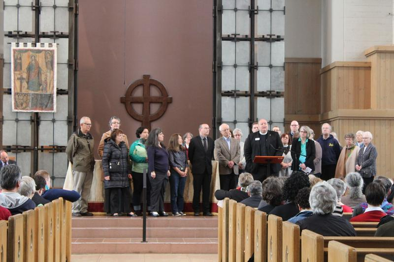 Faith communities gather on May Day 2017 at St. Mark's Cathedral in Seattle's Capitol Hill neighborhood to declare their support for immigrants and refugees.