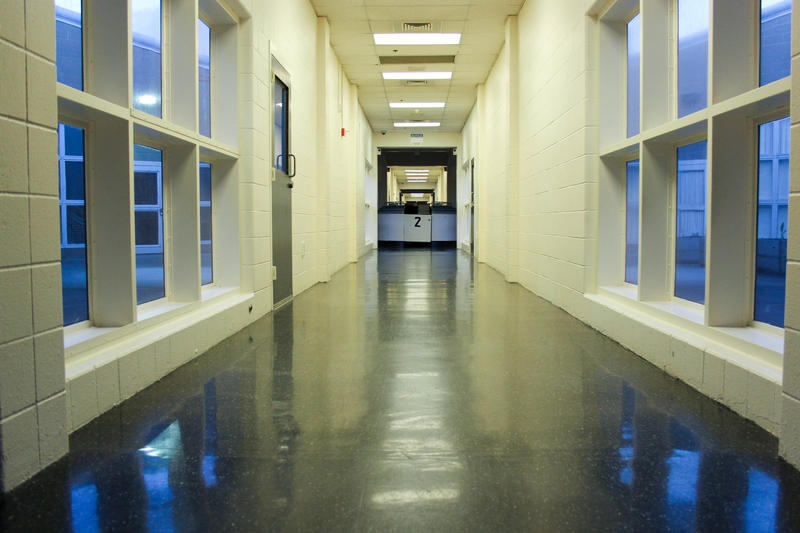 A main corridor at the King County Juvenile Detention in Seattle.