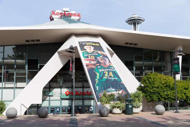 Seattle's Key Arena is the former home of the NBA's Seattle Sonics, and current home of the WBNA Storm