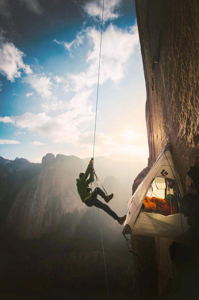 Base camp in the middle of the Dawn Wall.