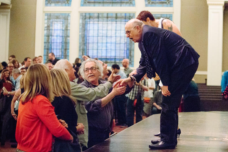 Jeffrey Tambor greets fans at Town Hall Seattle