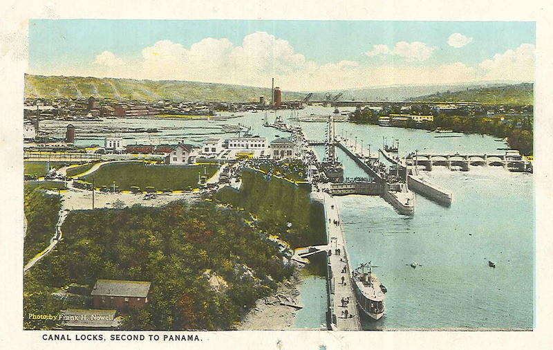 A postcard of the Ballard Locks, 1917