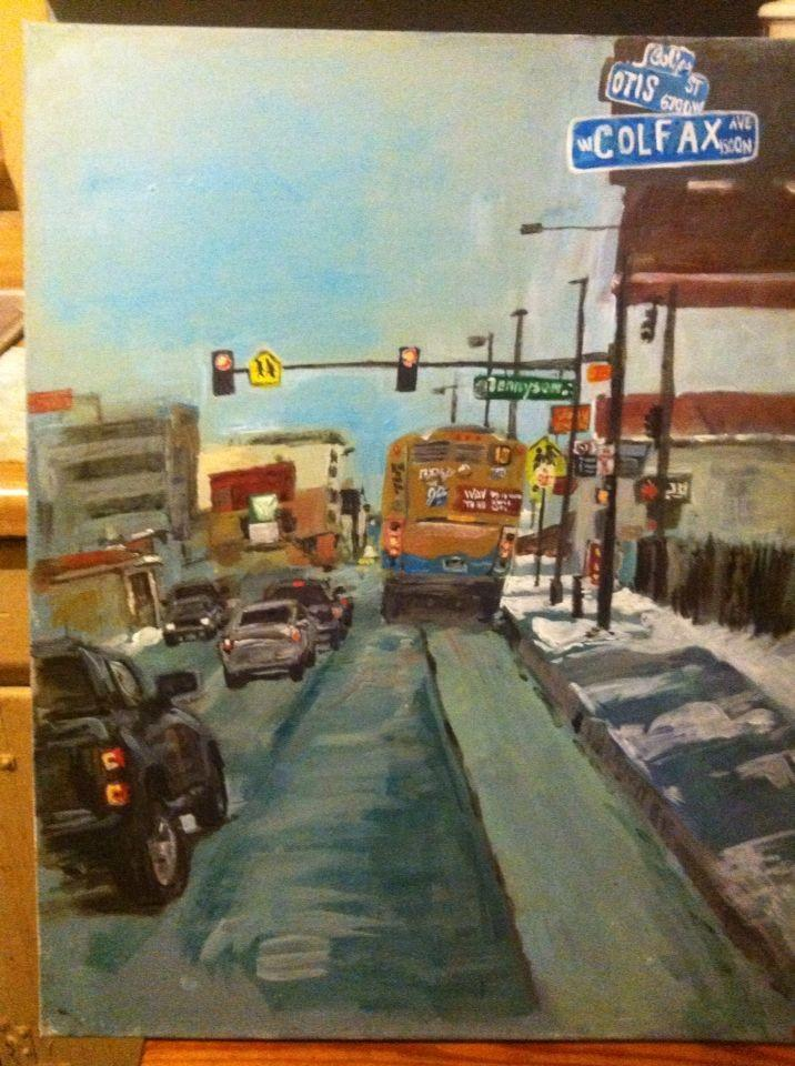 Colfax blvd, Colorado - acrylic