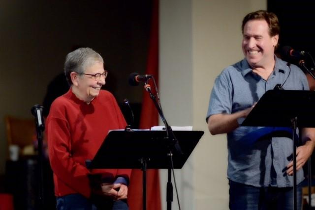 Nancy Pearl and Dan Tierney perform their American Library Association Alt PSA