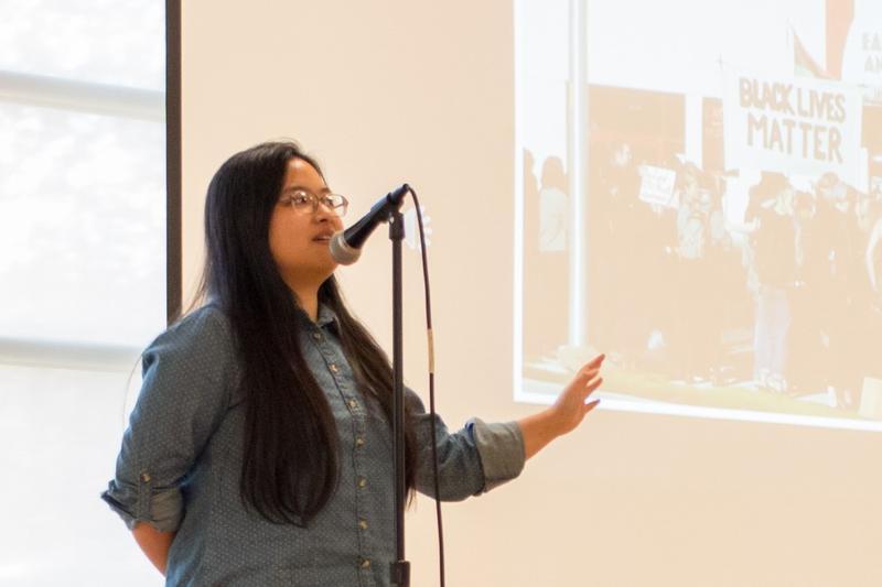 Huyen-Tran Phung at a RadioActive event.