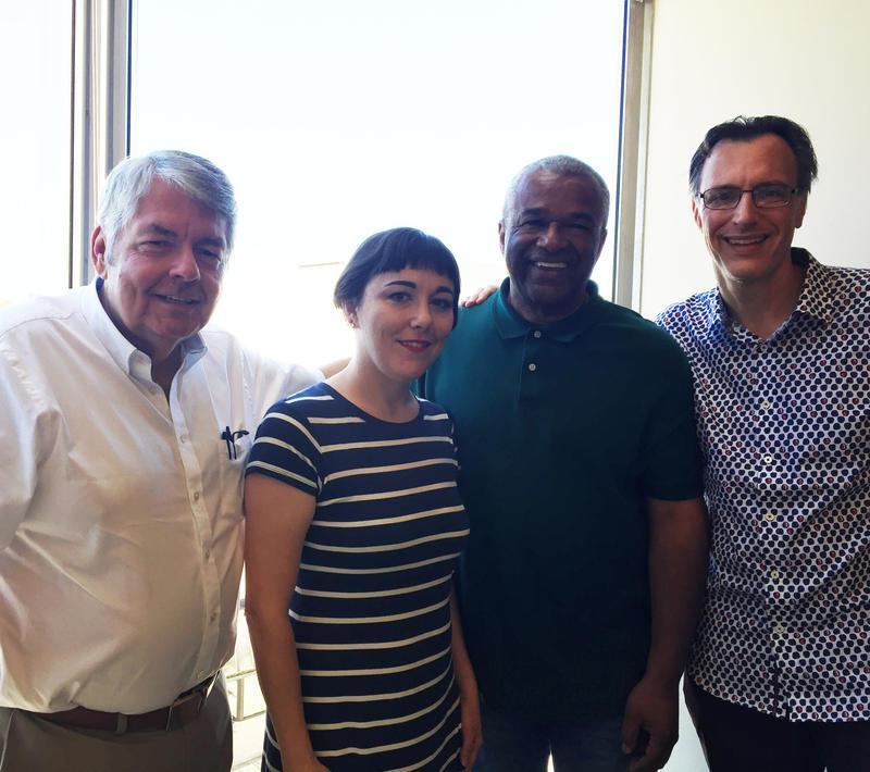 L-R: Kirby Wilbur, Erica C. Barnett, Ron Sims, Bill Radke