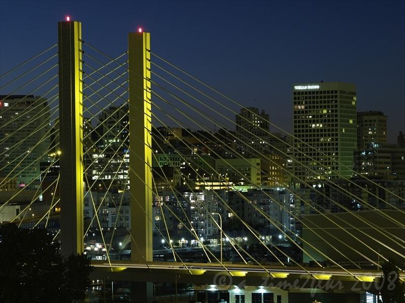 Tacoma, Washington at night