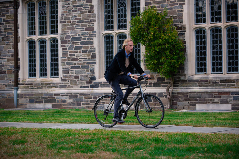 Robbert Dijkgraaf in Princeton, NJ. 'Life is like riding a bicycle. In order to keep your balance, you must keep moving.' –Albert Einstein