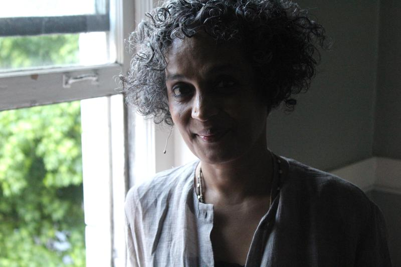 Backstage at Townhall Seattle with Arundhati Roy