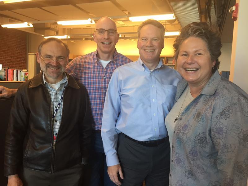 L-R: Dave Ross, C.R. Douglas, Paul Guppy, Tina Podlodowski