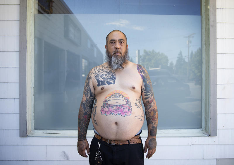 'I like tattoos because a lot of mine have to do with what my heritage is and they have meaning about different periods of life,' Bill McMillian Jr. said. 'Instead of living the thug life, I'm living the Buddha life.'