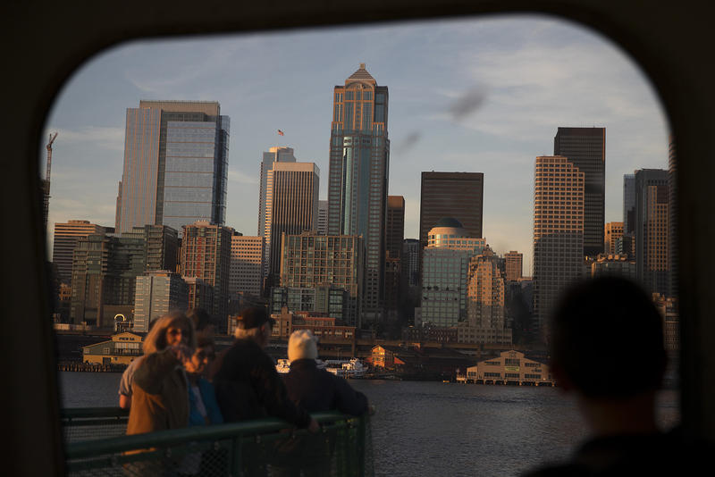 KUOW photographer Megan Farmer is a newcomer to Seattle. She took this photo on her second-ever ferry ride.