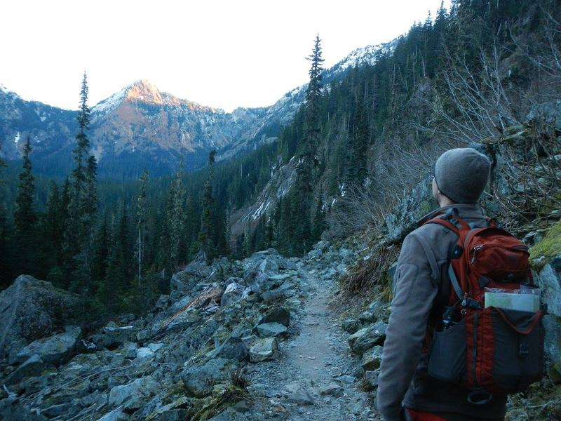 Hiking a trail off Snoqualmie Pass. But we're not telling you where, because the photographer wants to keep it to herself.