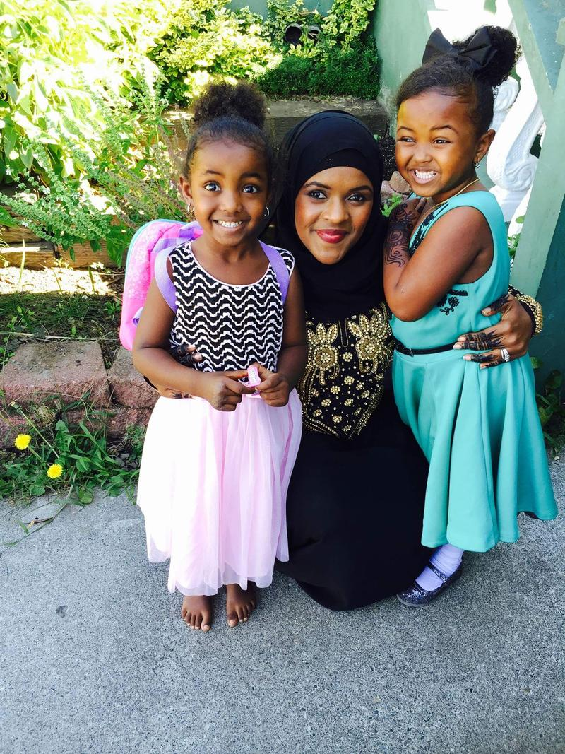 Dr. Anisa Ibrahim with her two children