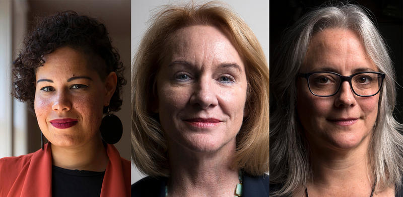 Nikkita Oliver, Jenny Durkan and Cary Moon.