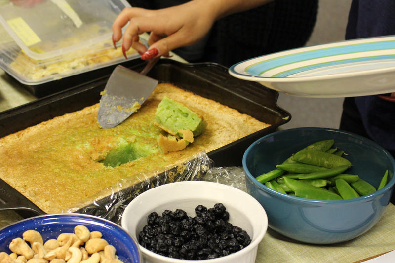 "Banh bo nuong (Vietnamese honeycomb cake) was one of the dishes at the RadioActive ""obscure foods"" potluck."