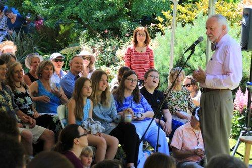 Donald Davis captures the crowd's attention at The PowellsWood Storytelling Festival