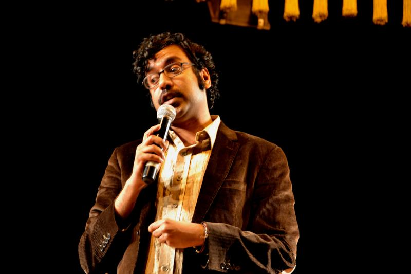 Comedian Hari Kondabolu at the Museum Theatre in Chennai on January 5, 2012.