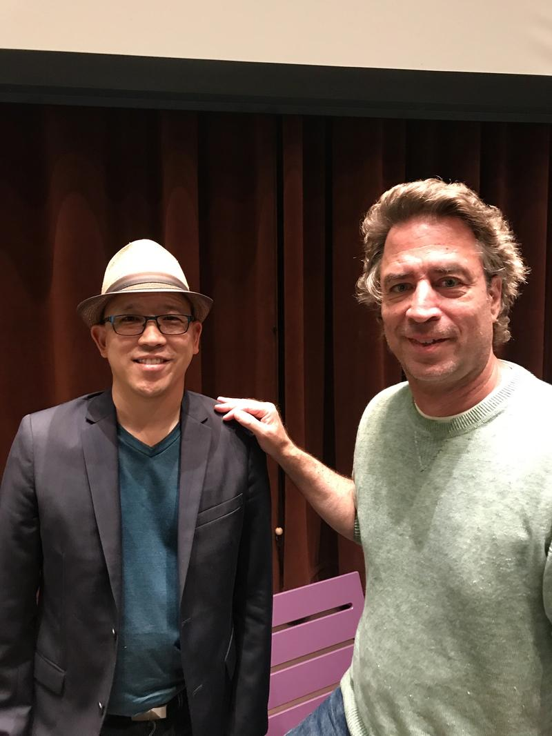 Scott Kurashige and Michael Hardt at Seattle Public Library