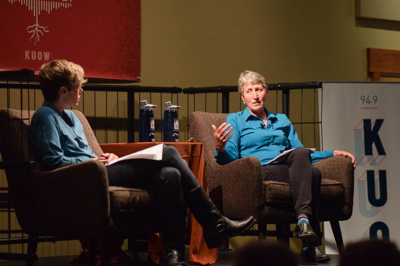 Ashley Ahearn and Sally Jewell at The Mountaineers Program Center