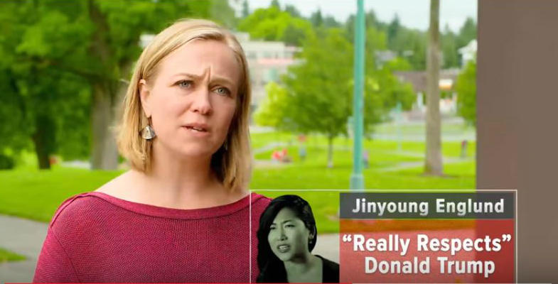 Attack ad targetting Republican and Washington State Senate candidate Jinyoung Englund