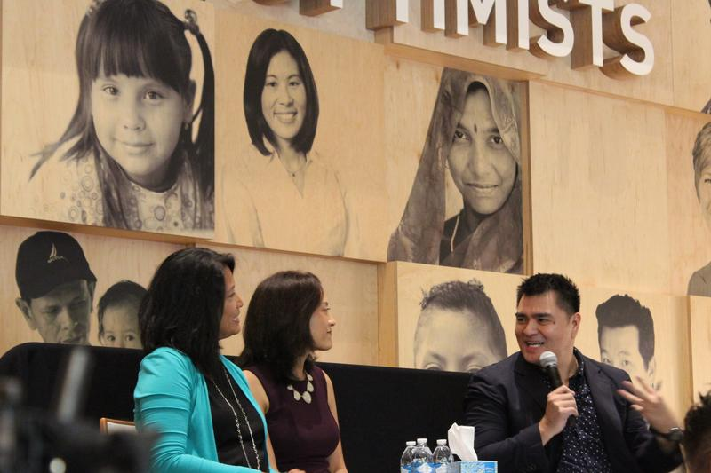 Ling Tizon Quillen, Melissa Tizon and Jose Antonio Vargas