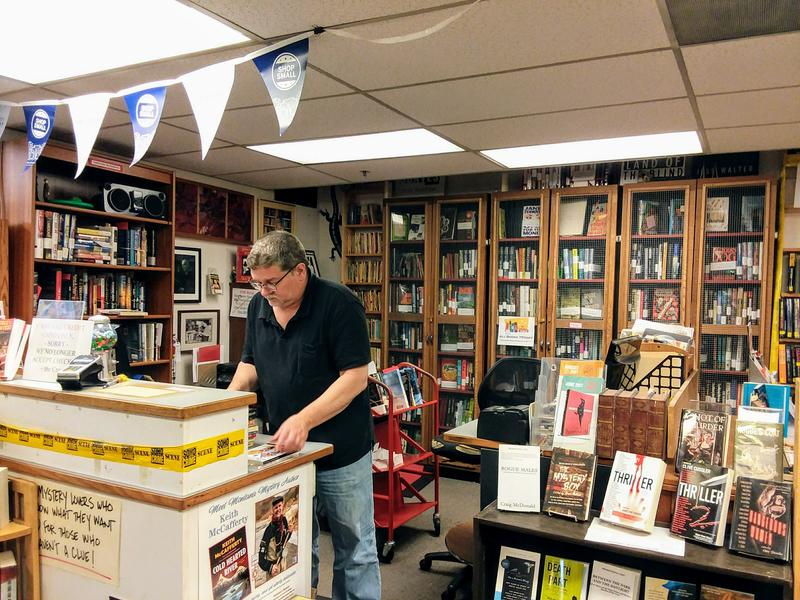 Owner JB Dickey says owning a book store is a 'very honorable way of making a living.'