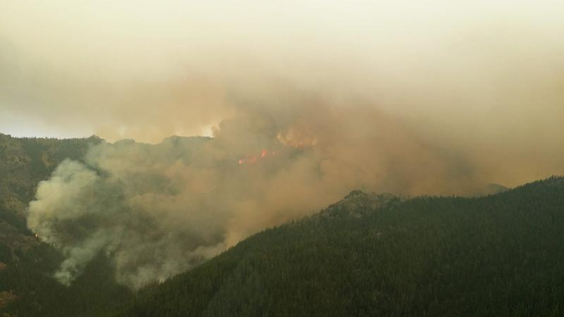 Norse Peak fire on the morning of September 5. The growth caused an evacuation of Crystal Mountain Ski Resort.