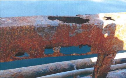 Corrosion at a salmon farming operation run by Cooke Aquaculture off Bainbridge Island.