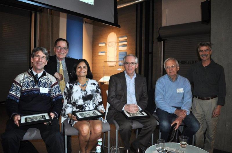 Mark Hallenbeck, Ross Reynolds, Shefali Ranganathan, John Lass, Tom Alberg and Gene Duvernoy at the Living Computers Museum + Labs