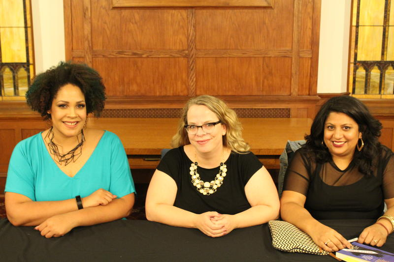 Ijeoma Oluo, Kate Harding and Samhita Mukhopadhyay at Seattle First Baptist Church