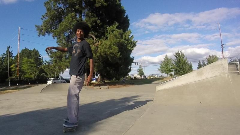 "Derrick O'Neal at the skate park in Kent. ""When I learn a new trick, it just gives me a satisfaction that I couldn't replace with anything else,"""