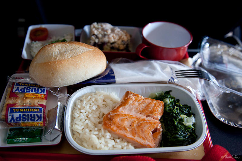 File photo of airline food.