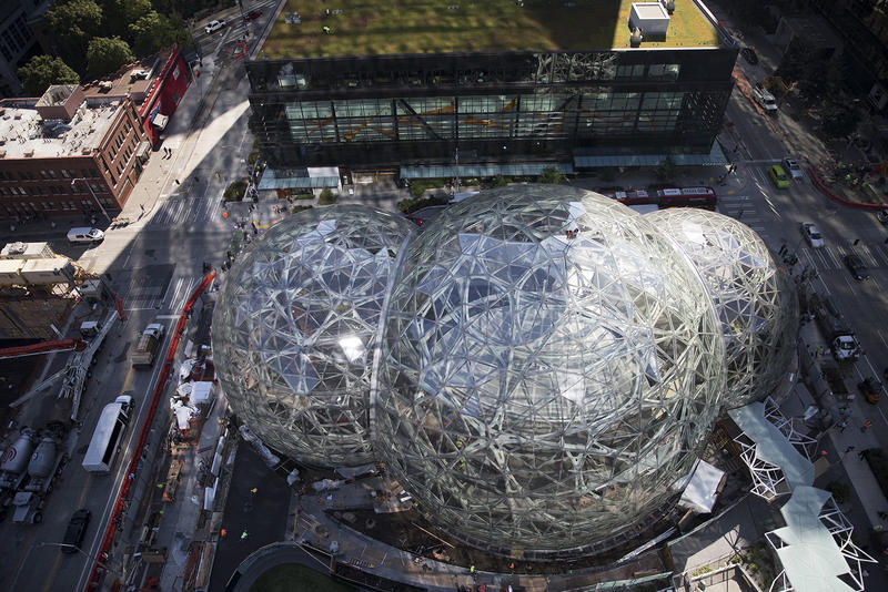 Amazon Spheres, downtown Seattle