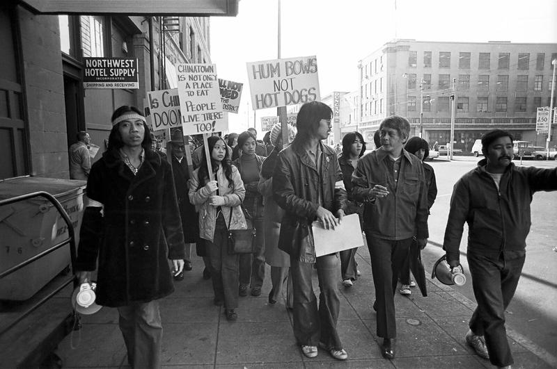 November 2, 1972, two days after the groundbreaking ceremony of the Kingdome, Bob Santos led a protest. The rallying cry: HUMBOWS NOT HOT DOGS!