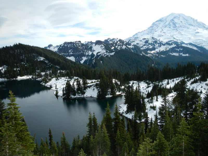 Eunice Lake from Tolmie Peak in Rainier National Park, Washington.