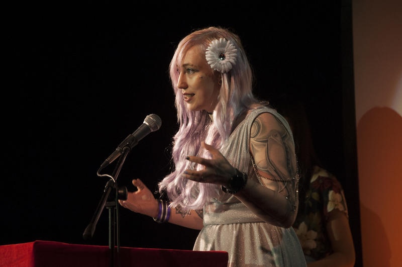 Zoë Quinn at IndieCade in 2015.