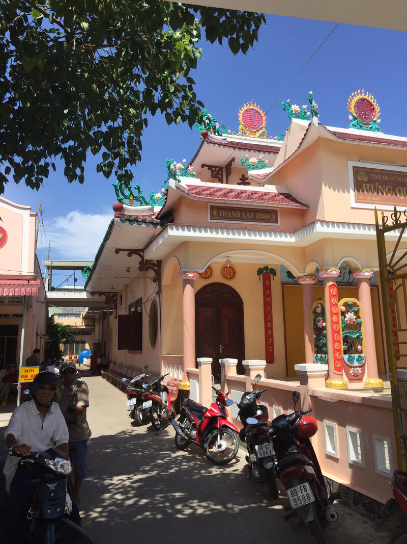 A Buddhist temple in Ca Mau, where Kristie Nguyen lived before fleeing Vietnam