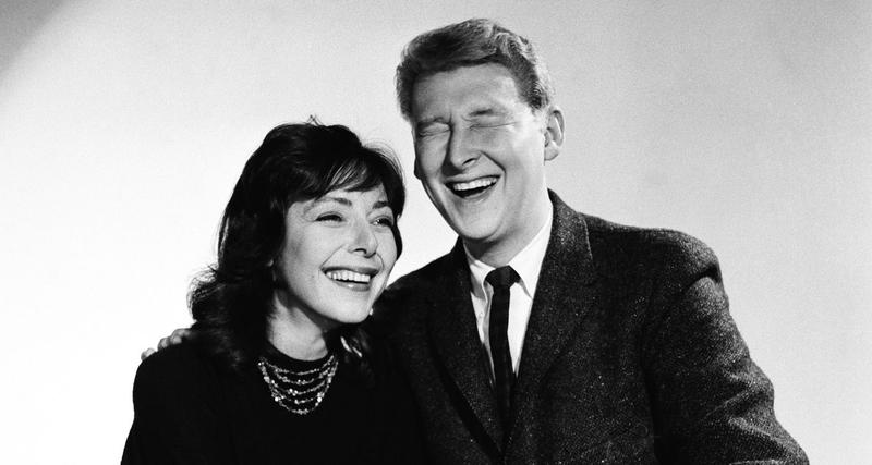Early improvisational greats Elaine May and Mike Nichols.