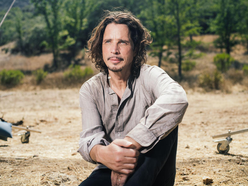 In this July 29, 2015 file photo, Chris Cornell poses for a portrait to promote his latest album, 'Higher Truth,' during a music video shoot in Agoura Hills, Calif.