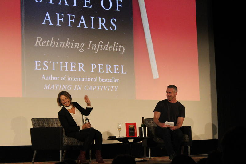 Esther Perel and Dan Savage at the Egyptian Theatre