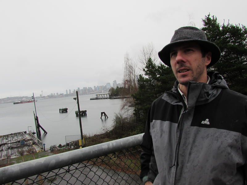 SPU's James Rufo-Hill has mapped potential flooding along Seattle's  shoreline and in industrial areas.