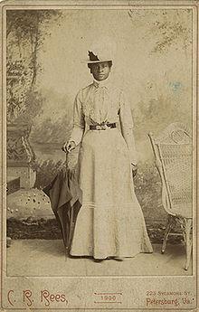 Portrait of Mary Elizabeth Bowser, Union spy in the home of Jefferson Davis.