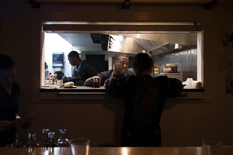 Chef-owner Edouardo Jordan in his second restaurant, JuneBaby. (December 2017)
