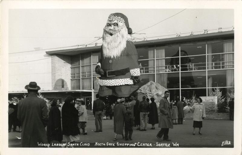 Roguish Northgate Santa, circa 1952