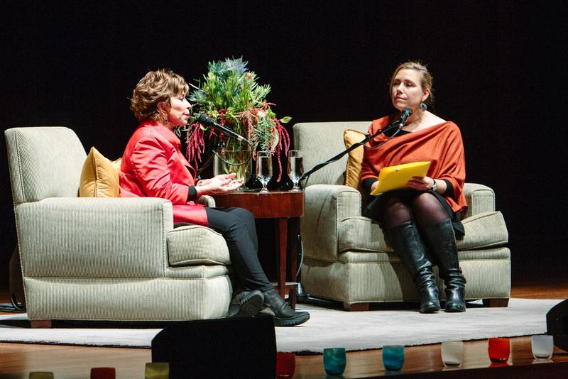 Isabel Allende and Ruth Dickey at Benaroya Hall